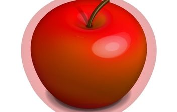 Red Apple - vector #177029 gratis