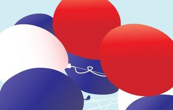 Red, white and blue patriotic balloons vector - Free vector #177119