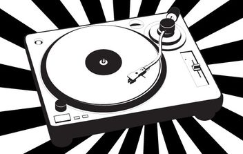 Music turntable vector - vector gratuit #177139