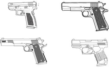 Free vector set of guns - vector #177169 gratis