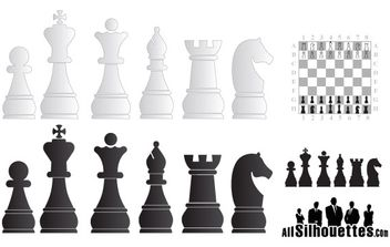 Chess objects free vector - бесплатный vector #177189