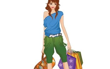 Shopping girl 16 - Kostenloses vector #177289