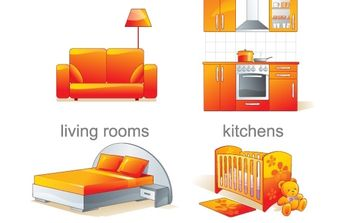 Furniture illustration - vector gratuit #177309