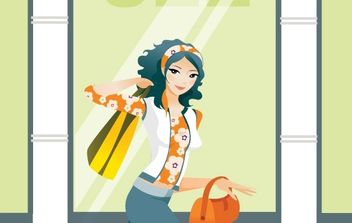 Shopping girl 1 - vector gratuit #177329