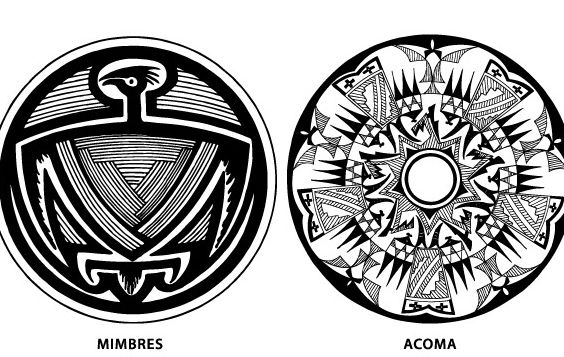 Southwest Native American Pottery Design Vectors - Free vector #177469