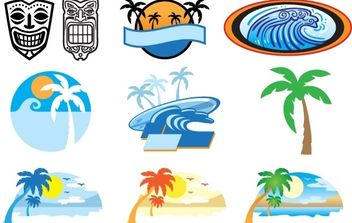Hawaii Beach - vector gratuit #177479