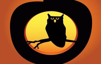 Halloween Owl Pumpkin - Free vector #177509