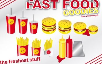 Fast Food Goodies - vector gratuit #177619