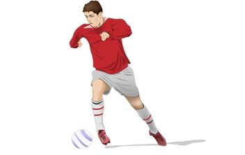 Soccer Player Vector - Free vector #177659