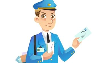 Mail Man Vector - Free vector #177689