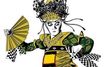 balinese dancer - vector gratuit #177989