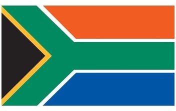 South African Flag Vector - бесплатный vector #178019
