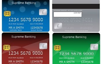 Bank Cards - vector gratuit #178059