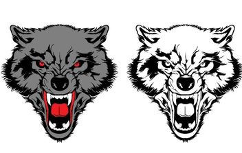 Two Wolf Vectors - vector gratuit #178099