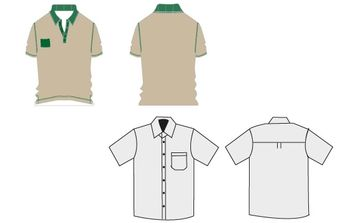 T-shirt Work uniforms - vector gratuit #178279
