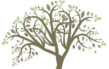 Vector colorful tree - Free vector #178309