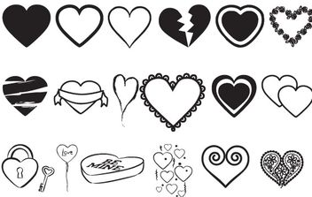 Hearts Vectors Mix - Free vector #178339
