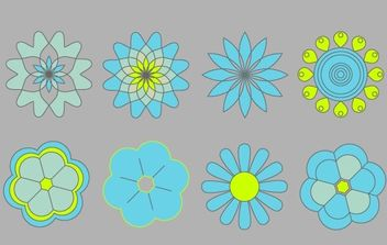 8 Simple Vector Flowers - Free vector #178349