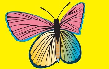 AM Butterfly - vector #178409 gratis
