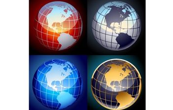 Free set of vector globes - бесплатный vector #178469