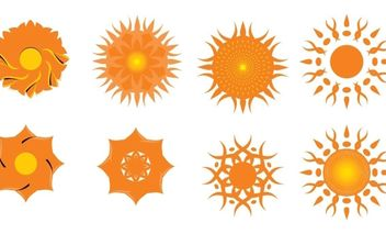 Suns and other motifs - Free vector #178539