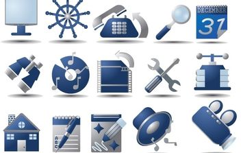 Free Vector Icon Set - Free vector #178549