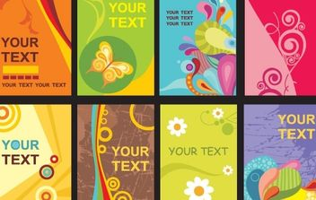 Colorful card templates - vector #178569 gratis