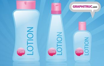 Lotion Three Bottles Free Vector - Kostenloses vector #178669