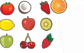 10 fruit fridge magnets! - vector gratuit #178789