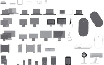 40 Vector Icons for Apple Products - vector gratuit #178799