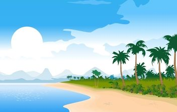 Free Vector Summer Beach Image - Free vector #178809