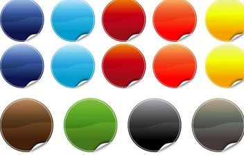20 poppy Color Stickers - Free vector #178929