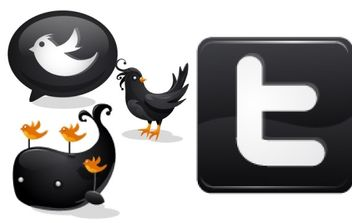 Black Twitter Icons - Free vector #178949