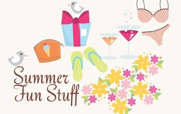 Summer Vector Icons and Fun Stuff - Kostenloses vector #179039