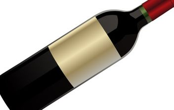Red wine bottle - Free vector #179079