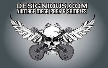 Vintage Mega Pack 6 free samples - Free vector #179099