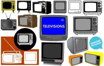 Vector Televisions - Free vector #179109