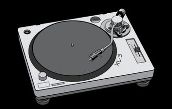 Turntable - vector #179139 gratis