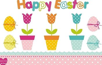 Easter Design Set - Free vector #179279