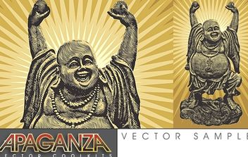 Laughing Buddha - Free vector #179319
