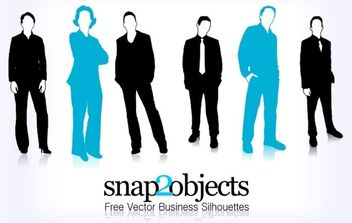 Free Vector Business Silhouettes - Free vector #179349