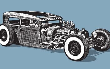 Hot Rod vintage car - Free vector #179389