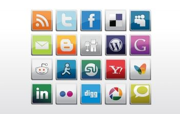 Social Icons Pack - Free vector #179429
