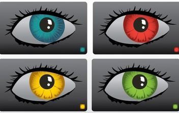 Color Eyes Vector - Free vector #179449