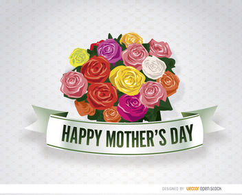 Mother's Day bunch flowers - vector gratuit #179499