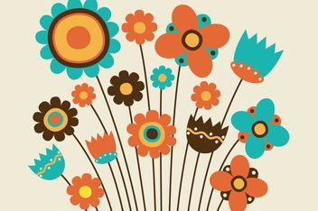 Funky Kids Drawn Flower Pack - Free vector #179579