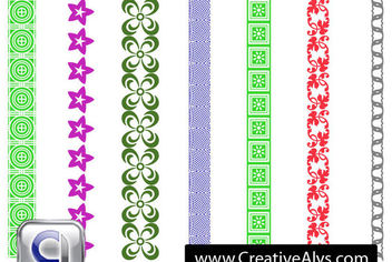Nice Seamless Border Pack - Free vector #179689