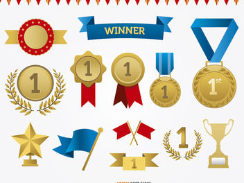 Awards Vector Set - vector gratuit #179709