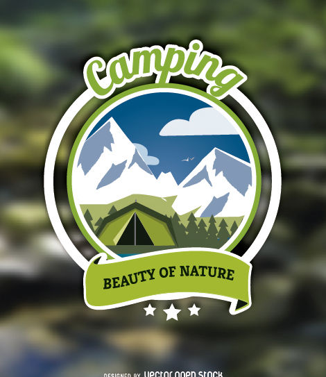 Label Camping - vector gratuit #179719