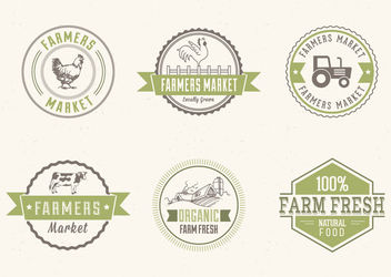 Farmers Market Label Pack - vector #179729 gratis